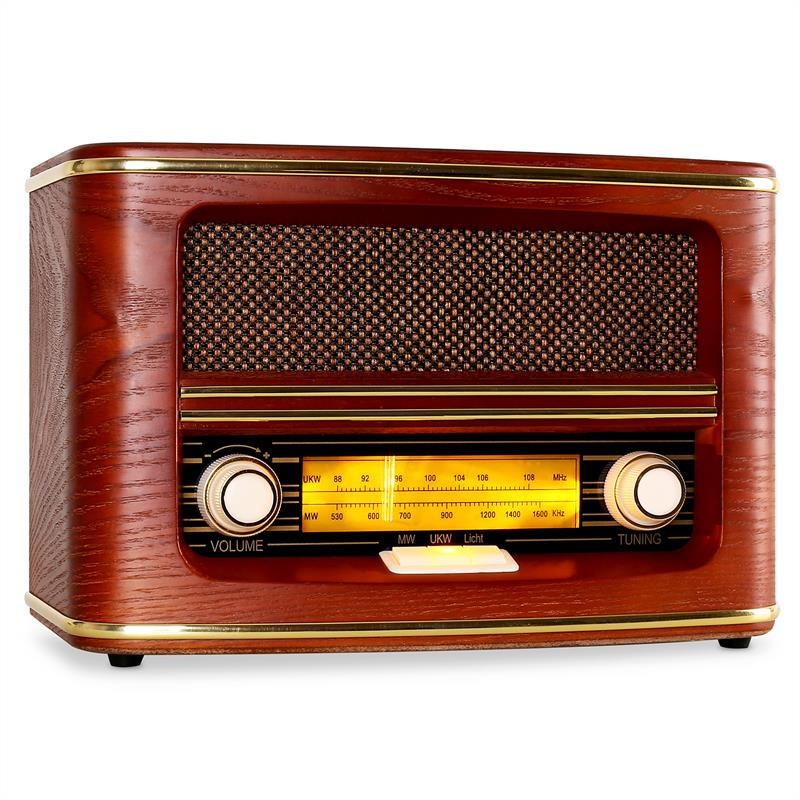auna belle epoque 1905 retro radio fm am at the best price. Black Bedroom Furniture Sets. Home Design Ideas