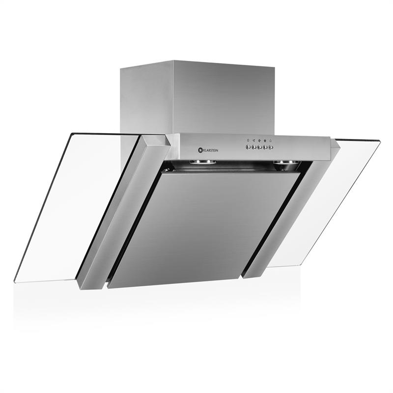 Klarstein RGL90WS Extractor Cooker Hood 90cm Stainless Steel: Click to enlarge image!