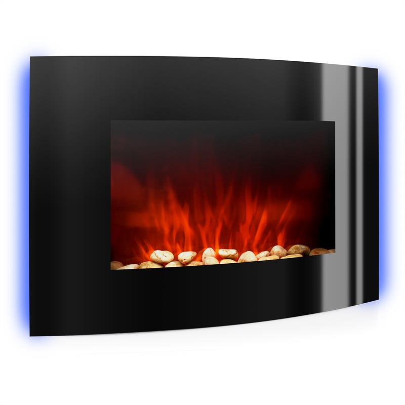 Klarstein Lausanne Electric Fireplace 2000w Led Flame Effect Remote Control At The Best Price