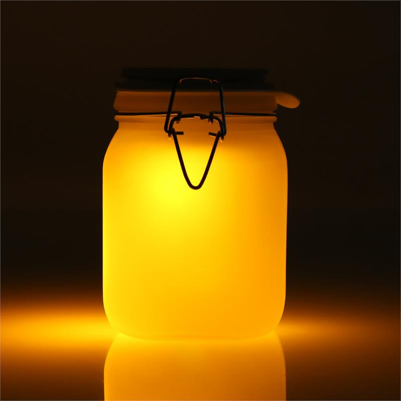 OneConcept Sunjar LED Decoration Light Blue & Orange Solar Battery: Click to enlarge image!