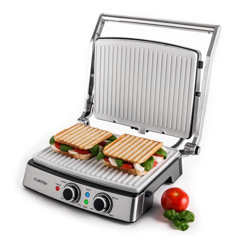 Kitchen Bar Greenside: Rodeo 3 Contact Grill Panini Press 2000W By Klarstein New