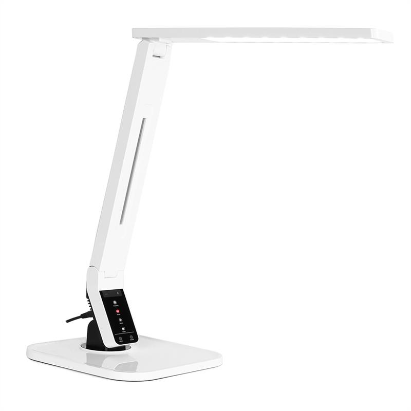 OneConcept Daily LighT LED Table Lamp USB Port Touch Control White
