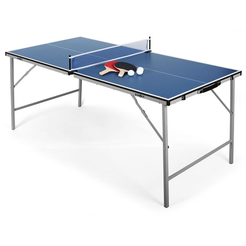 brand new blue foldable ping pong table tennis table mini. Black Bedroom Furniture Sets. Home Design Ideas