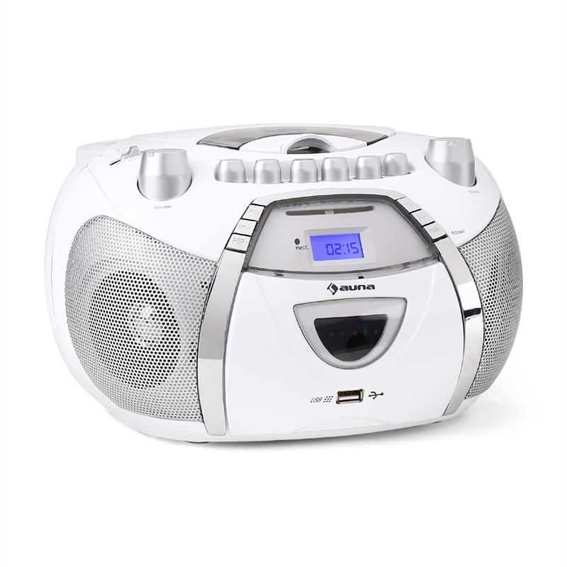 portable boombox stereo cd player mp3 usb speaker fm radio recorder system ebay. Black Bedroom Furniture Sets. Home Design Ideas