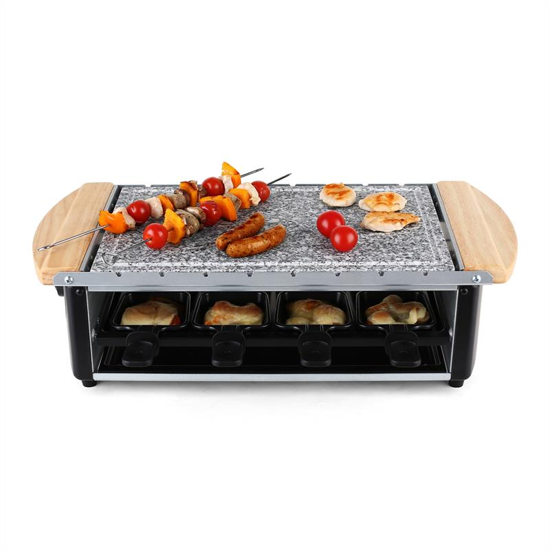 new 1200w raclette grill bbq skewer stone hot plate set free p p uk offer ebay. Black Bedroom Furniture Sets. Home Design Ideas