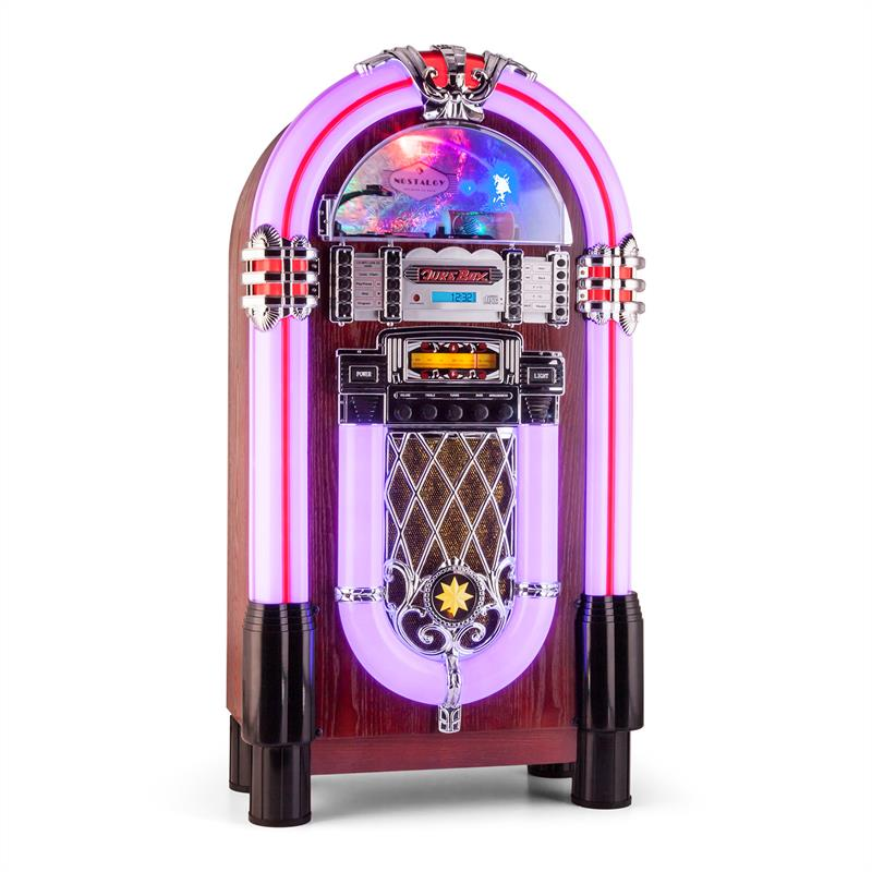 New 50 S Retro Jukebox Stereo Bluetooth Usb Sd Aux Cd
