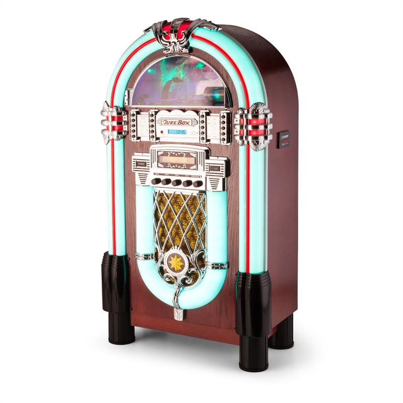 new 50 39 s retro jukebox stereo bluetooth usb sd aux cd radio free p p uk offer. Black Bedroom Furniture Sets. Home Design Ideas
