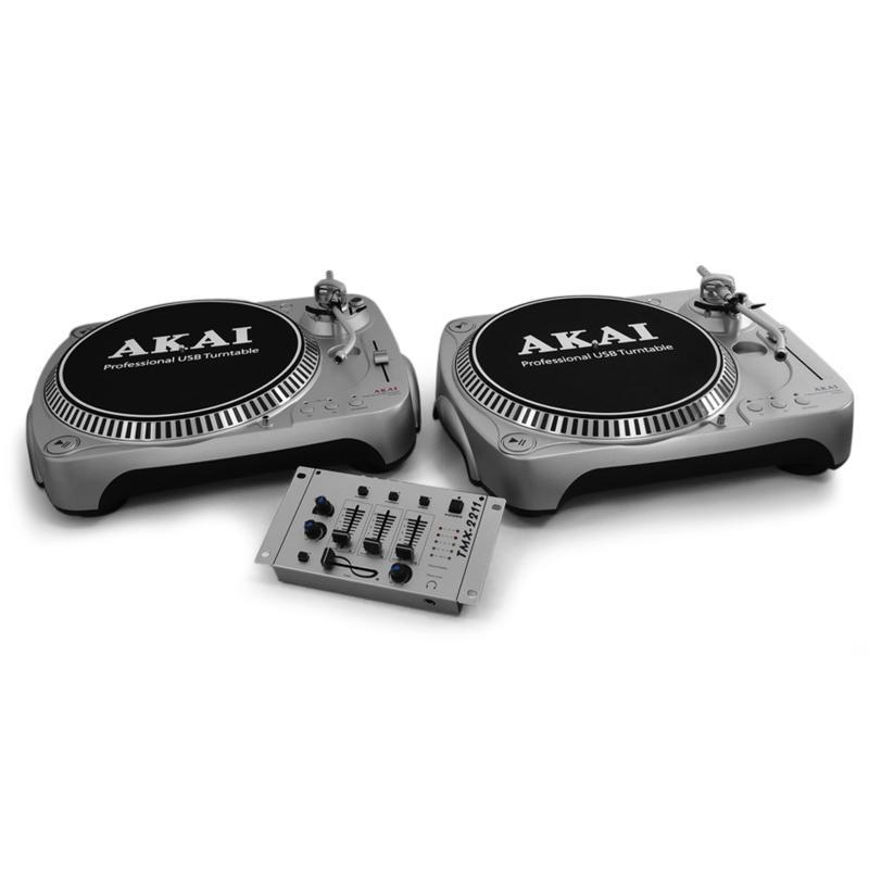 DJ PA System Silver Star 'Libra' USB Turntable Mixer: Click to enlarge image!
