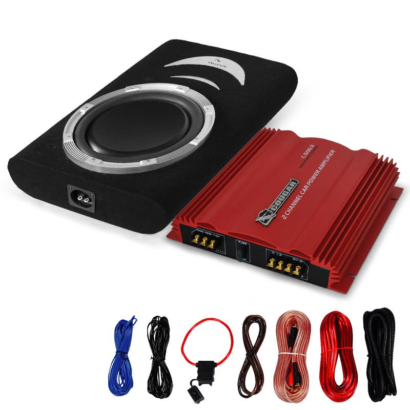 Car 'Melbourne' HiFi Stereo System - Amplifier Subwoofer Set: Click to enlarge image!
