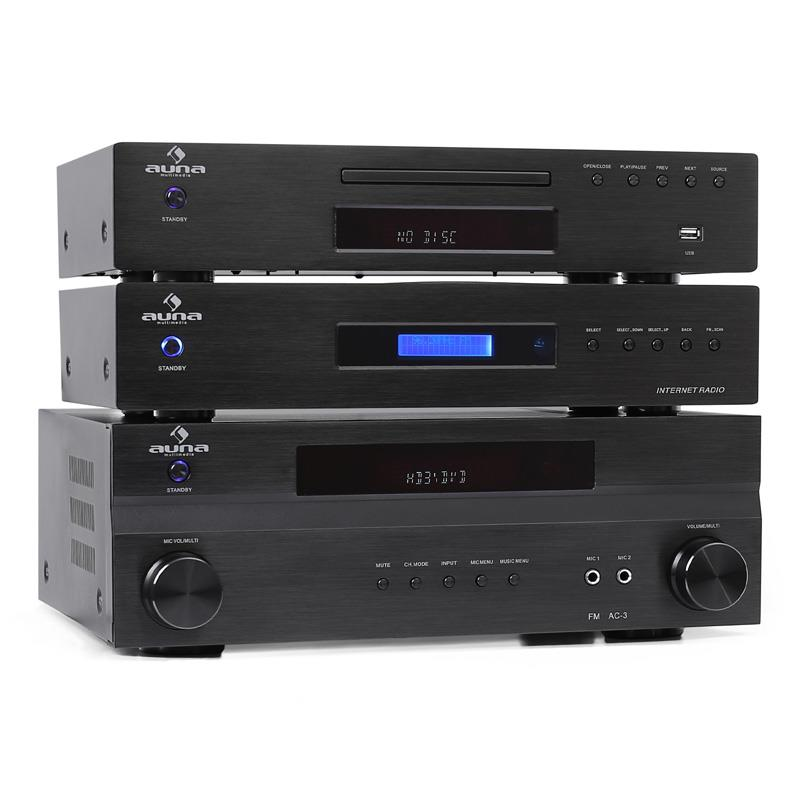 Auna 'Supreme Plus' Surround Sound Receiver, CD Player & Internet Radio System: Click to enlarge image!