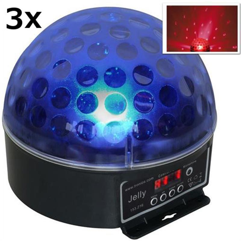 3x Jelly Beamz DJ Magic Ball LED RGB DMX light effect: Click to enlarge image!