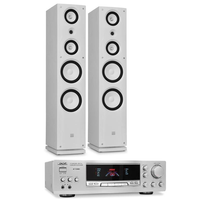 "Sleek Design ""Koda Tower"" Home Hi-Fi Speaker & Amplifier Bundle: Click to enlarge image!"