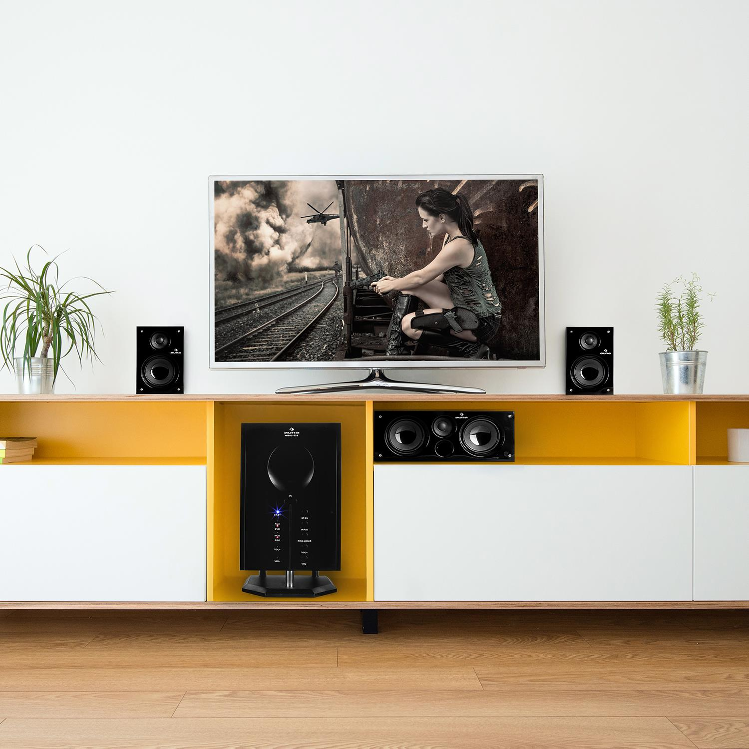 Auna-Areal-525-Bk-5-1-Surround-Sound-Active-Speaker-System-125-W-RMS thumbnail 2