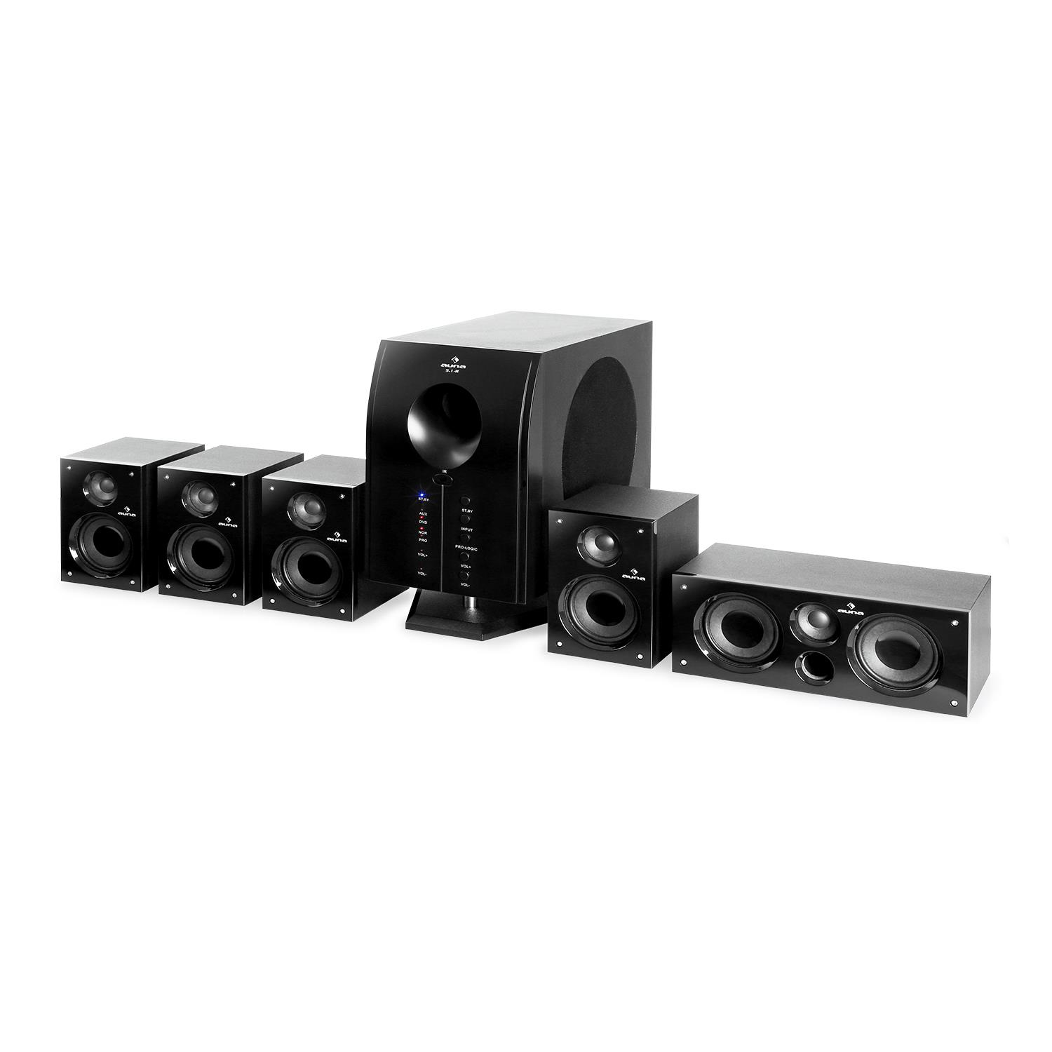 Auna-Areal-525-Bk-5-1-Surround-Sound-Active-Speaker-System-125-W-RMS thumbnail 9
