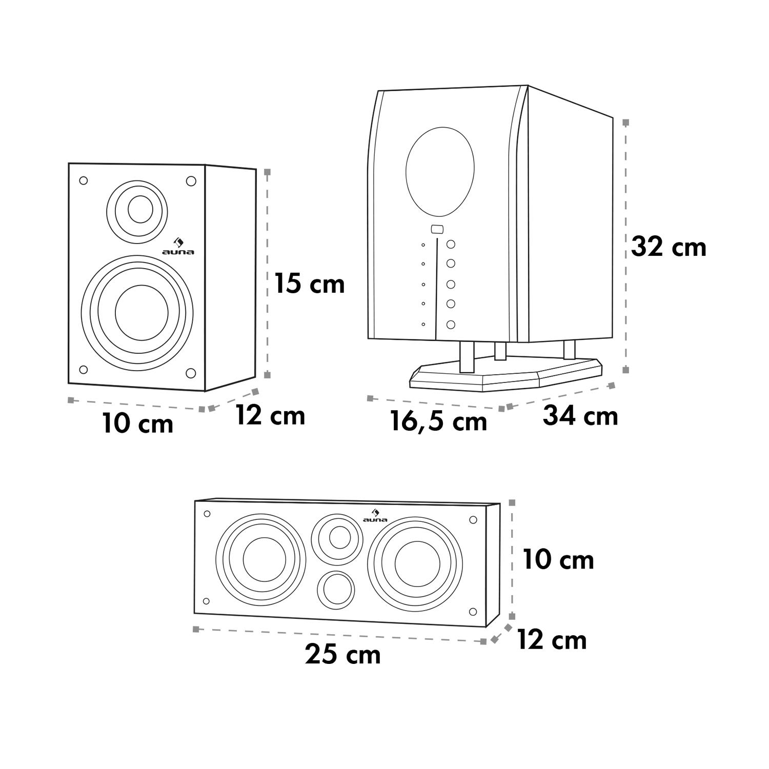 Auna-Areal-525-Bk-5-1-Surround-Sound-Active-Speaker-System-125-W-RMS thumbnail 10