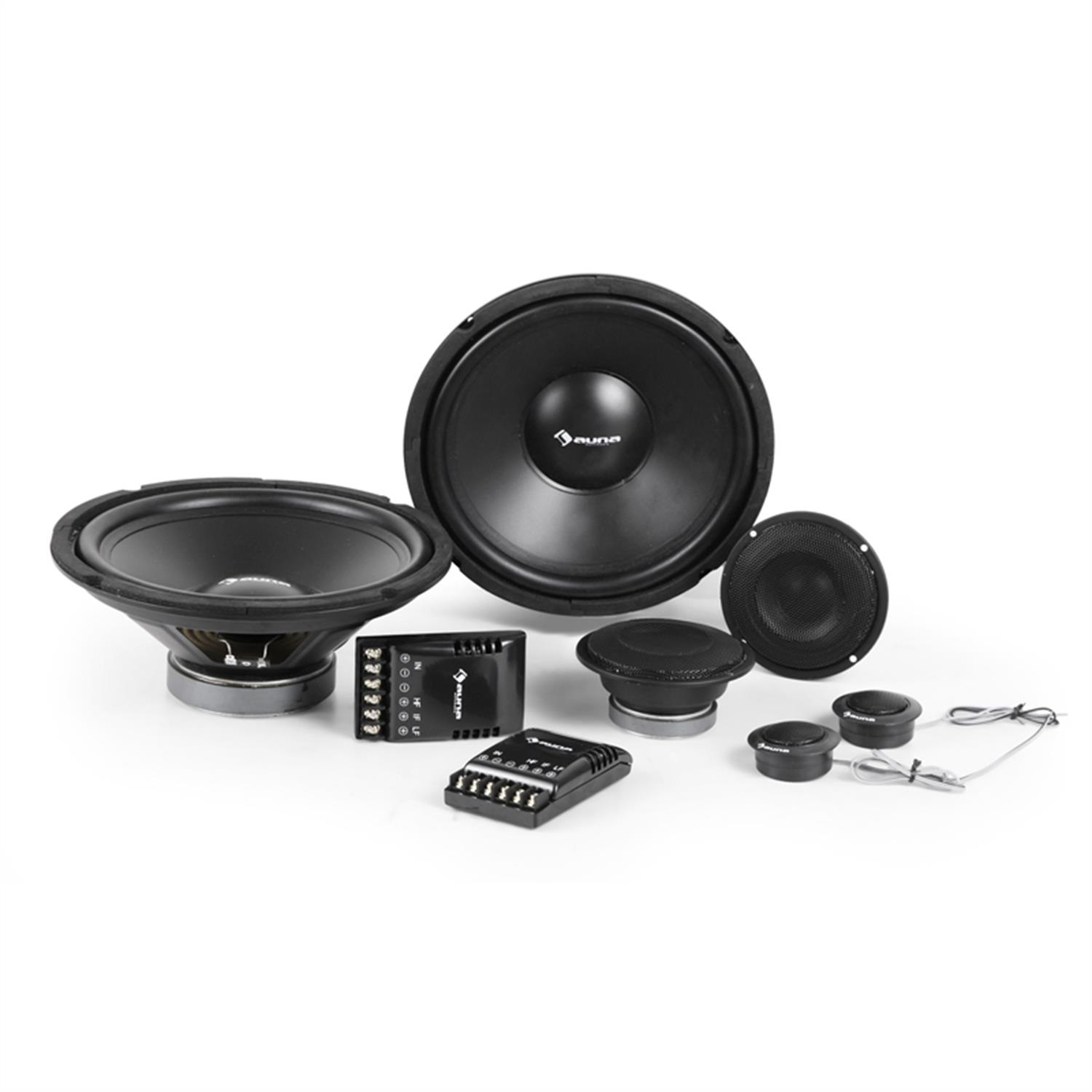 professional complete car stereo speakers set by auna. Black Bedroom Furniture Sets. Home Design Ideas