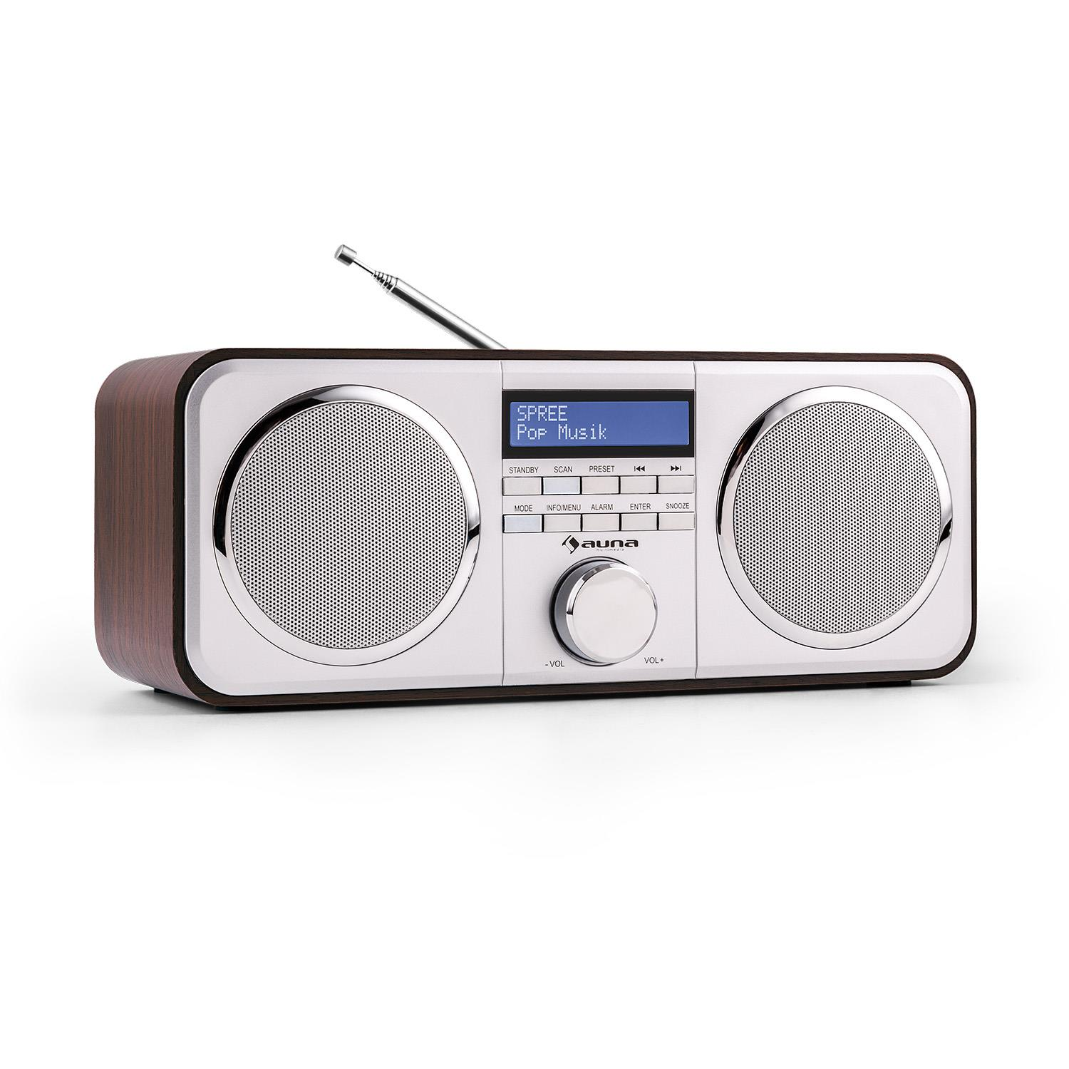 A professional rackmount fm radio tuner with an lcd screen for monitoring your radio station output