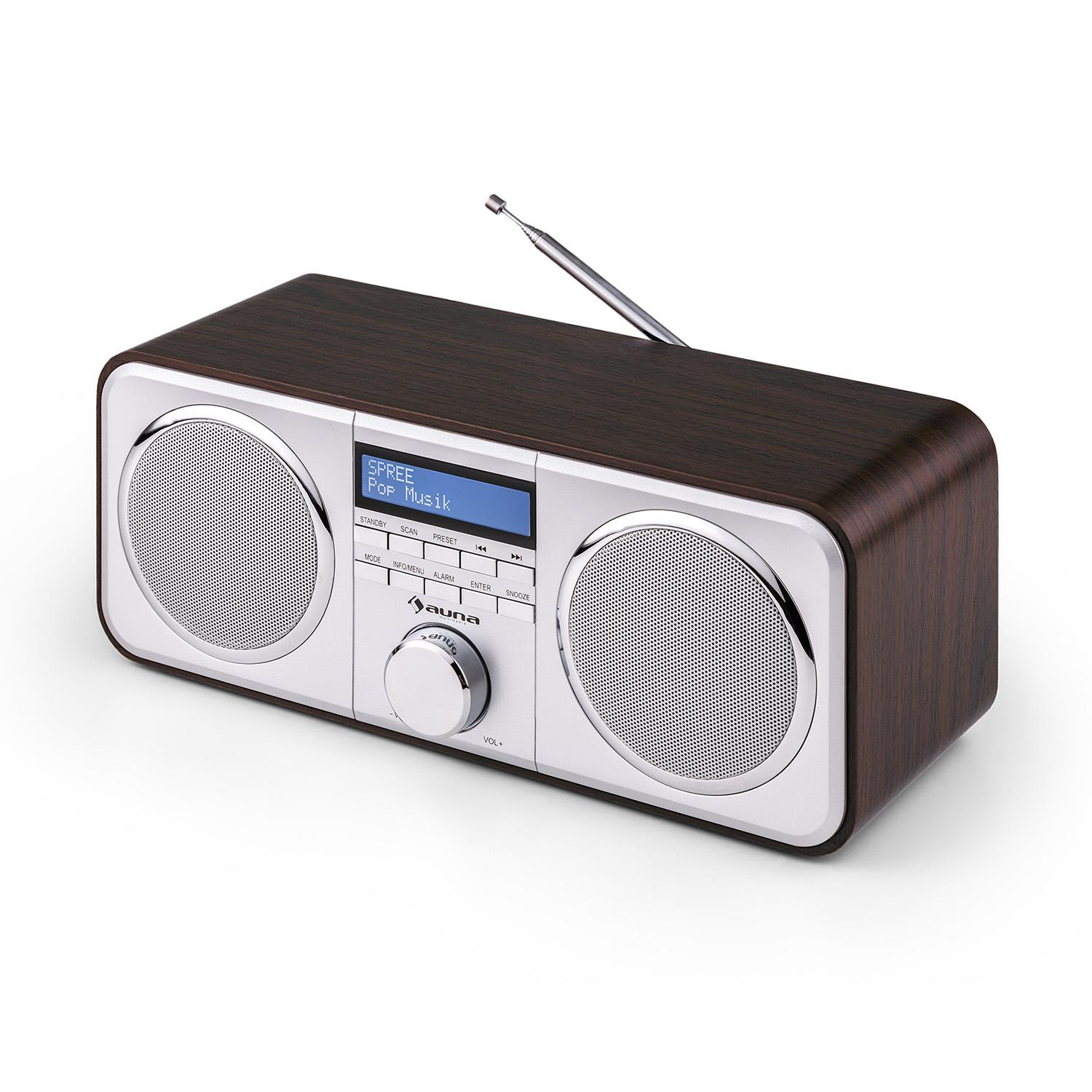 auna georgia dab radio dab fm tuner station presets. Black Bedroom Furniture Sets. Home Design Ideas