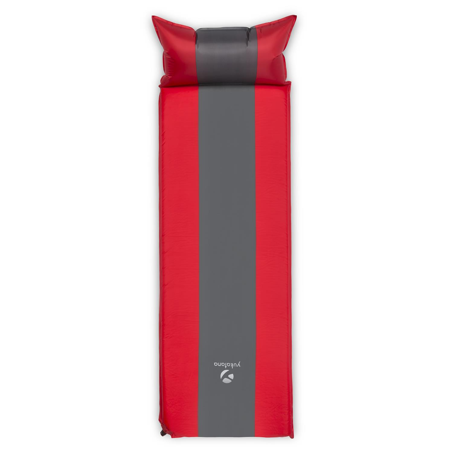 10 CM SINGLE SELF INFLATE CAMPING INFLATABLE SLEEPING MATTRESS RED GREY NEW