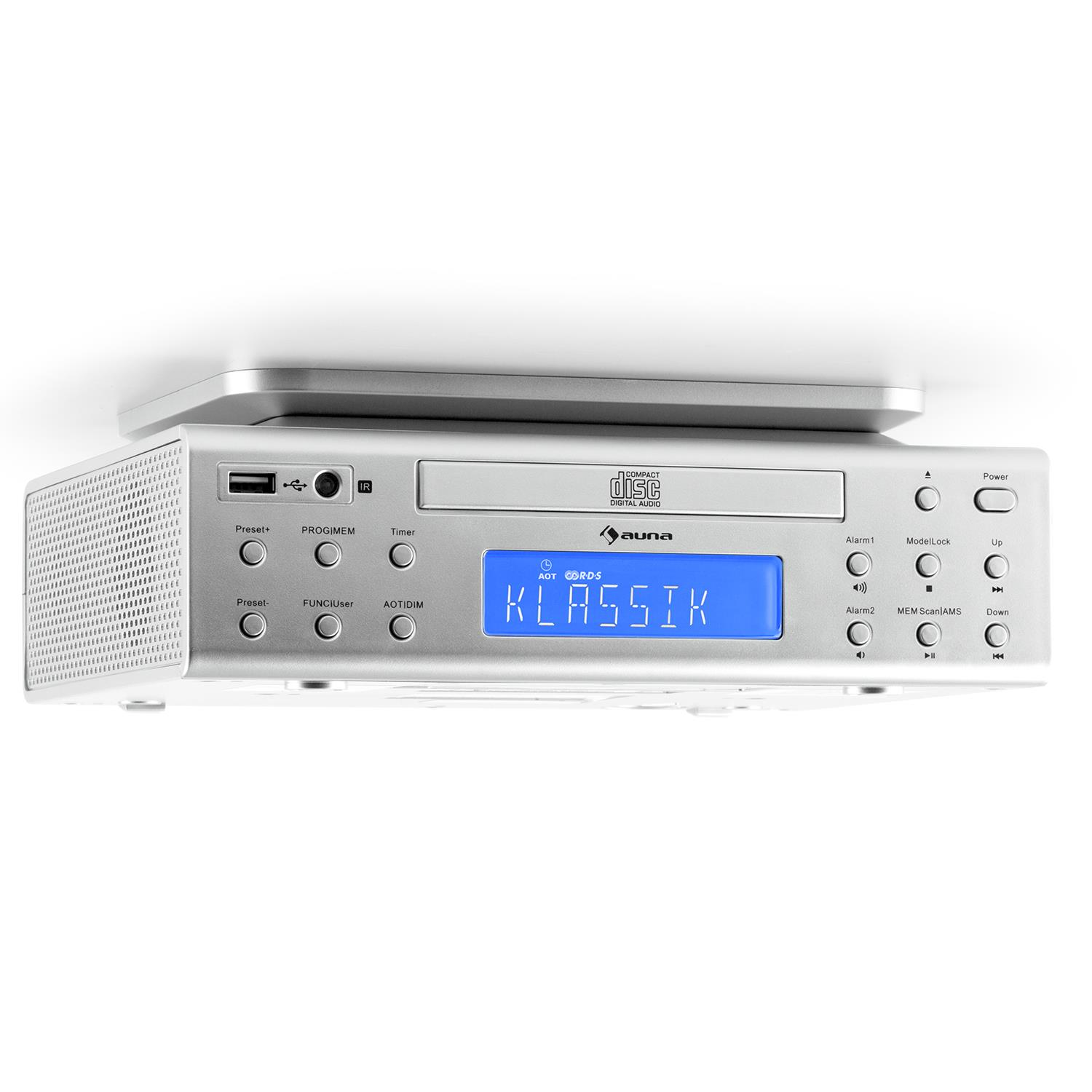AUNA UNDER CABINET KITCHEN RADIO ROOM AUDIO STEREO SPEAKER REMOTE ...