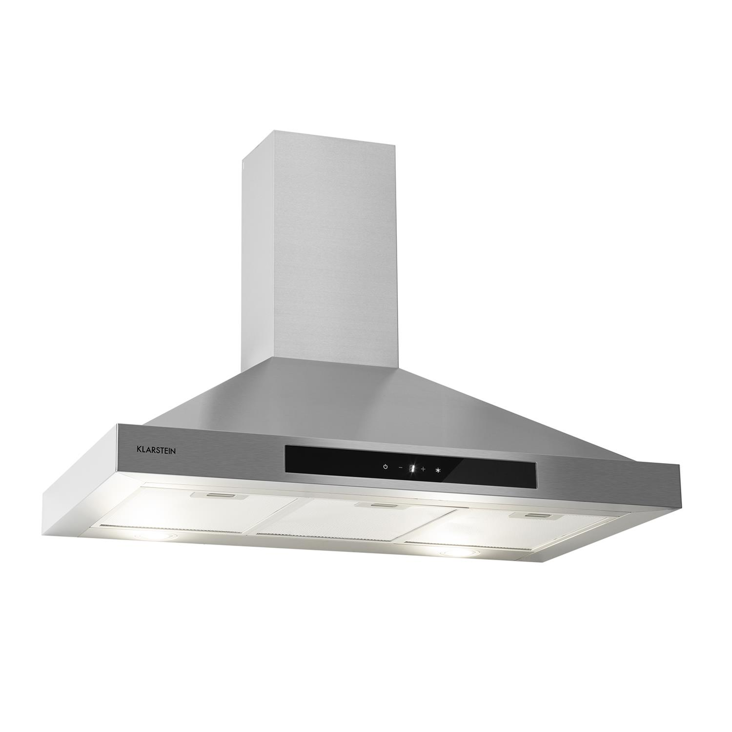 90cm Cooker Hood Extractor Fan Stainless Steel Kitchen Chimney Touch ...