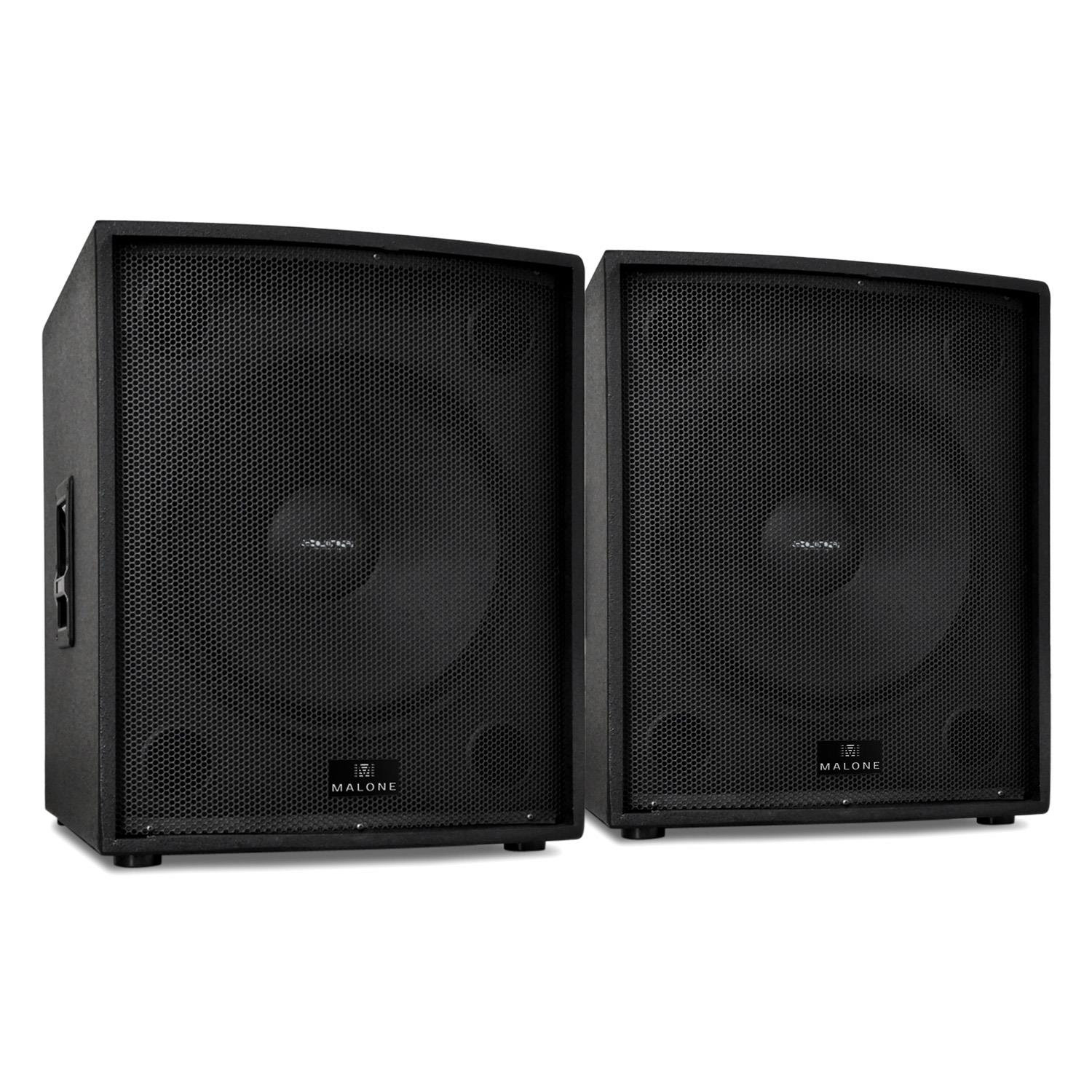 dj speakers pa passive pair 18 inch bass driver 2x 2500w party disco subwoofer ebay. Black Bedroom Furniture Sets. Home Design Ideas